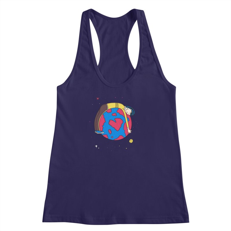 Addict to the Planet Women's Racerback Tank by darruda's Artist Shop