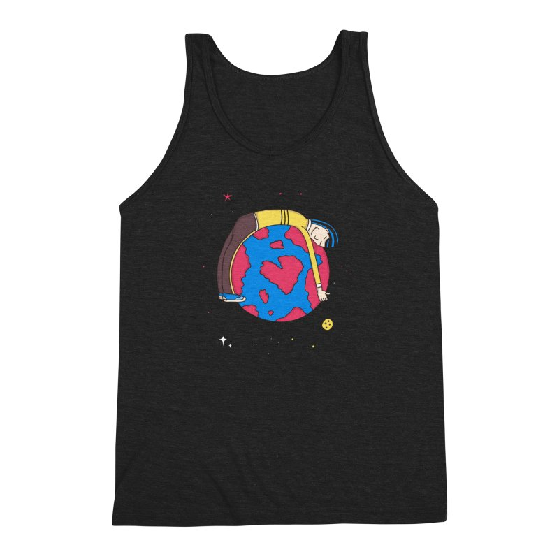 Addict to the Planet Men's Triblend Tank by darruda's Artist Shop