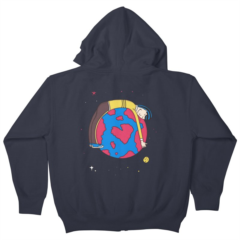 Addict to the Planet Kids Zip-Up Hoody by darruda's Artist Shop