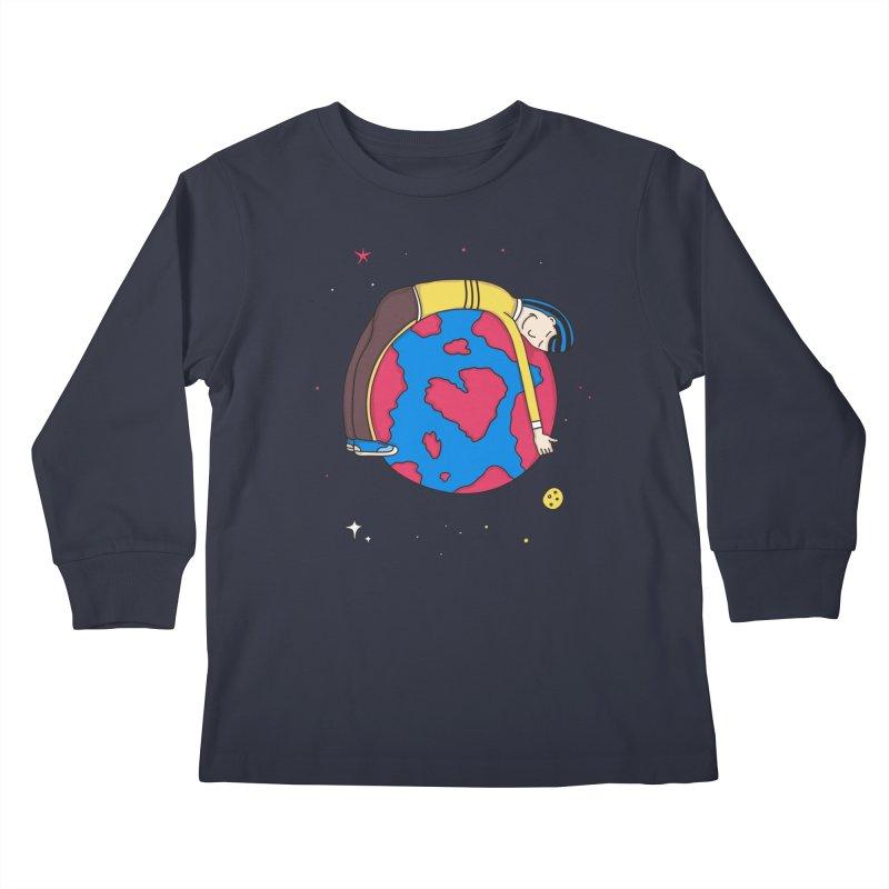 Addict to the Planet Kids Longsleeve T-Shirt by darruda's Artist Shop