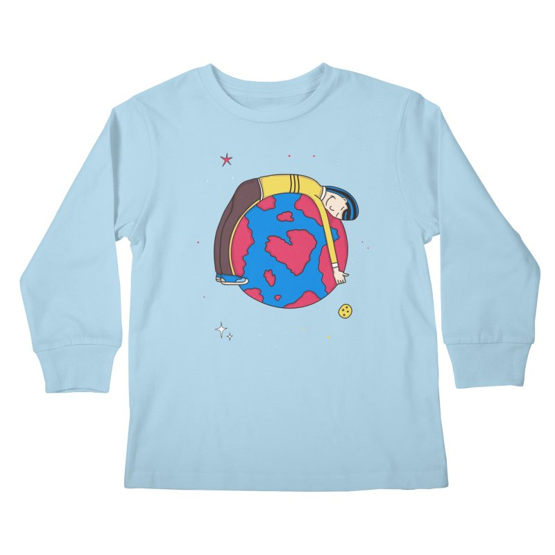 Addict to the Planet Kids Longsleeve T-Shirt by darruda's Artist Shop