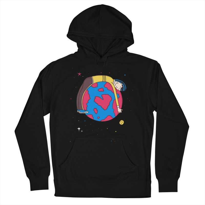 Planet Lover in Men's Pullover Hoody Black by darruda's Artist Shop