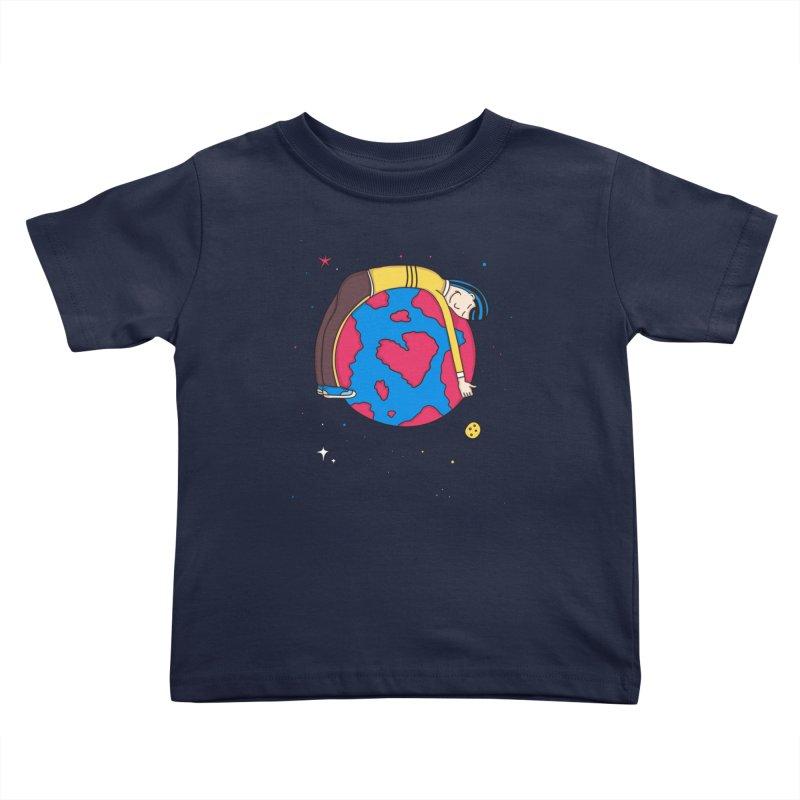 Planet Lover Kids Toddler T-Shirt by darruda's Artist Shop