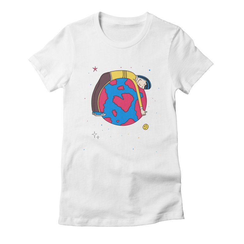 Planet Lover Women's Fitted T-Shirt by darruda's Artist Shop