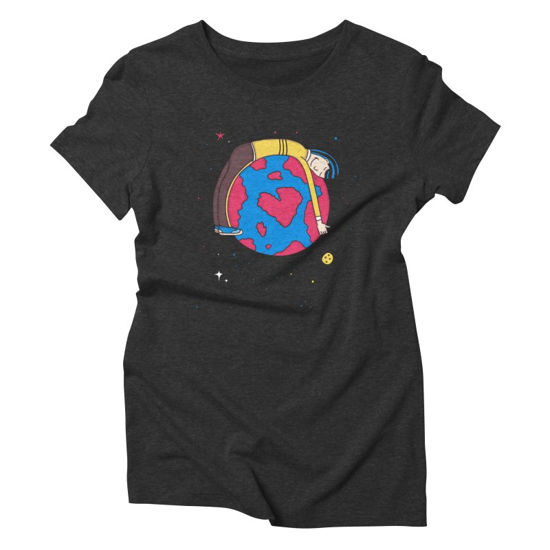 Planet Lover Women's Triblend T-Shirt by darruda's Artist Shop