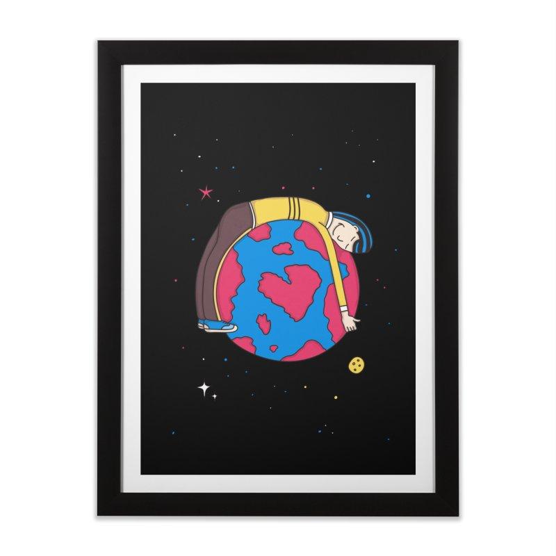 Planet Lover Home Framed Fine Art Print by darruda's Artist Shop