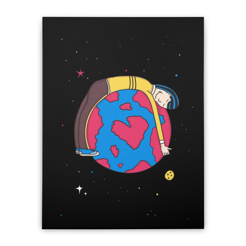 Planet Lover Home Stretched Canvas by darruda's Artist Shop