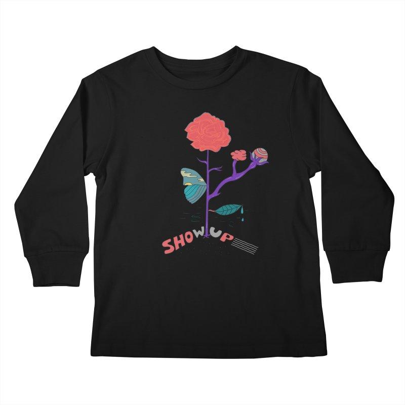 Show up Kids Longsleeve T-Shirt by darruda's Artist Shop