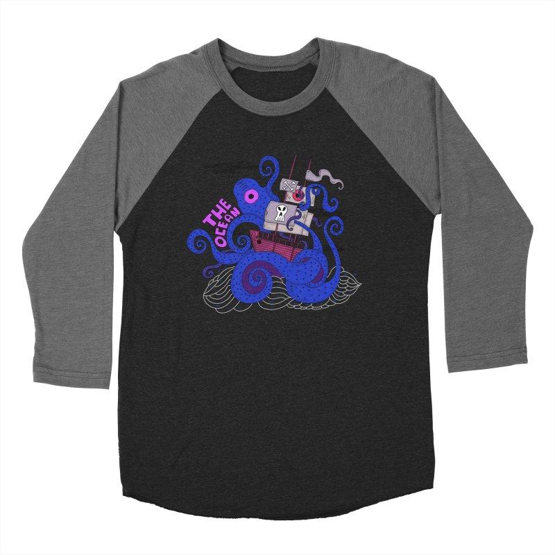 The Ocean Women's Baseball Triblend T-Shirt by darruda's Artist Shop