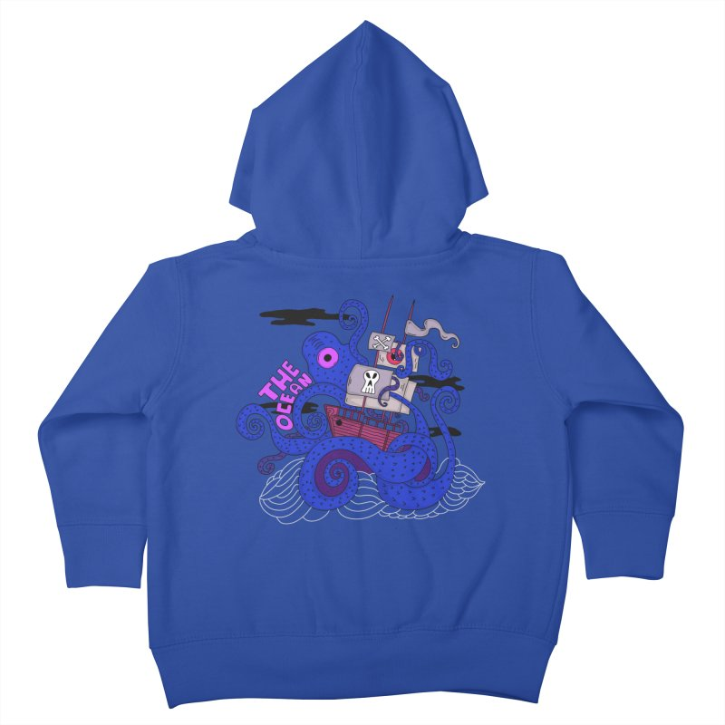The Ocean Kids Toddler Zip-Up Hoody by darruda's Artist Shop