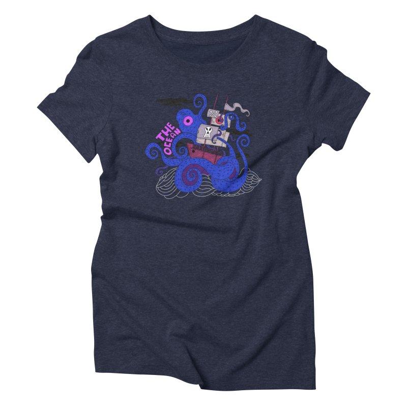 The Ocean Women's Triblend T-shirt by darruda's Artist Shop