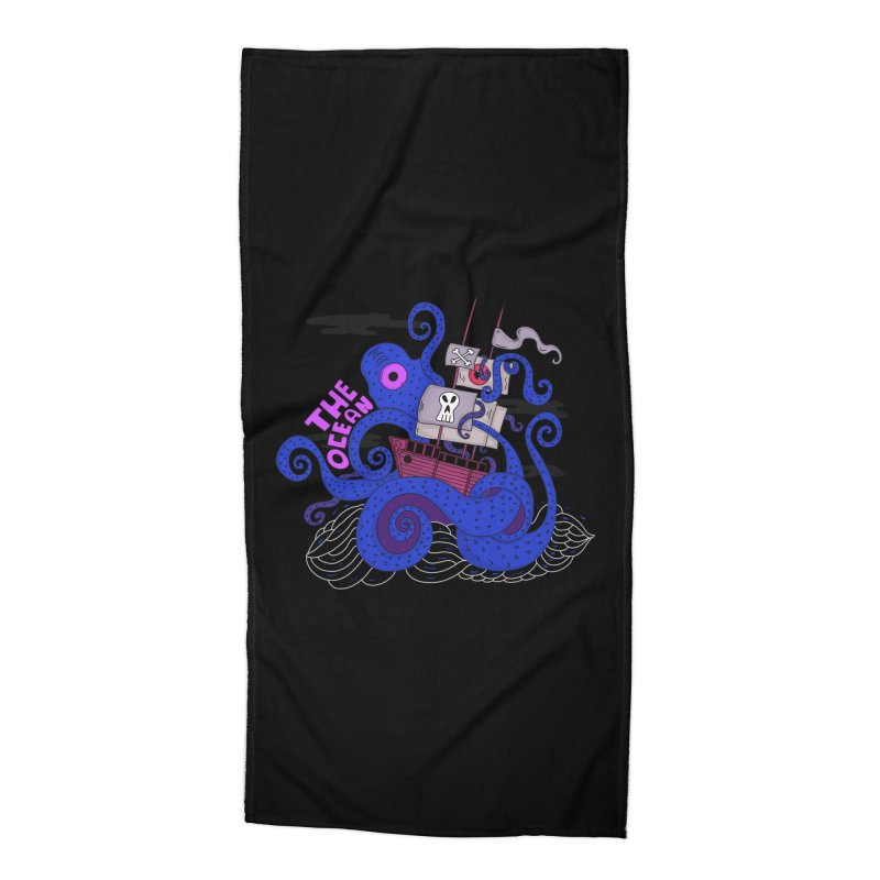 The Ocean Accessories Beach Towel by darruda's Artist Shop