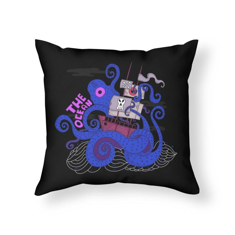 The Ocean Home Throw Pillow by darruda's Artist Shop
