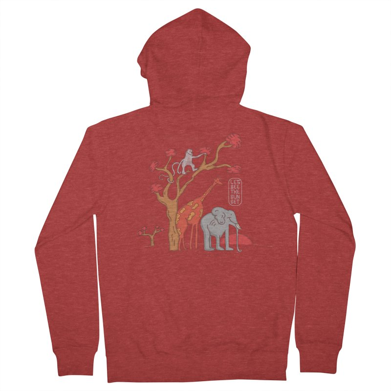 AWF - Let's See The Sunset-Day Men's Zip-Up Hoody by darruda's Artist Shop
