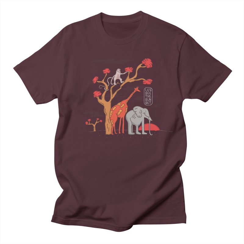 AWF - Let's See The Sunset-Day in Men's T-shirt Maroon by darruda's Artist Shop