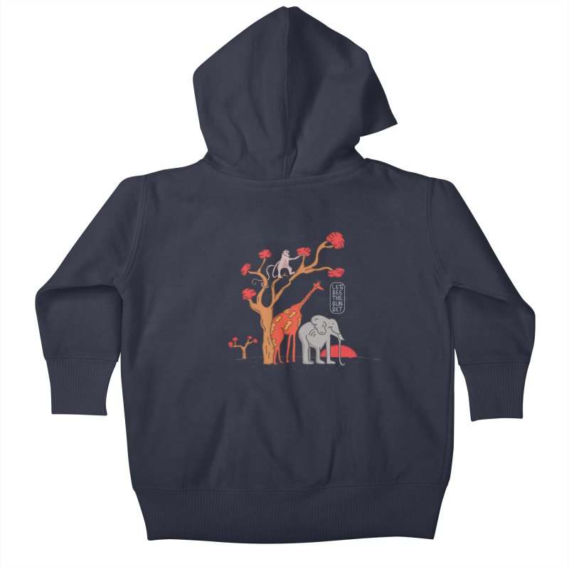 AWF - Let's See The Sunset-Day Kids Baby Zip-Up Hoody by darruda's Artist Shop