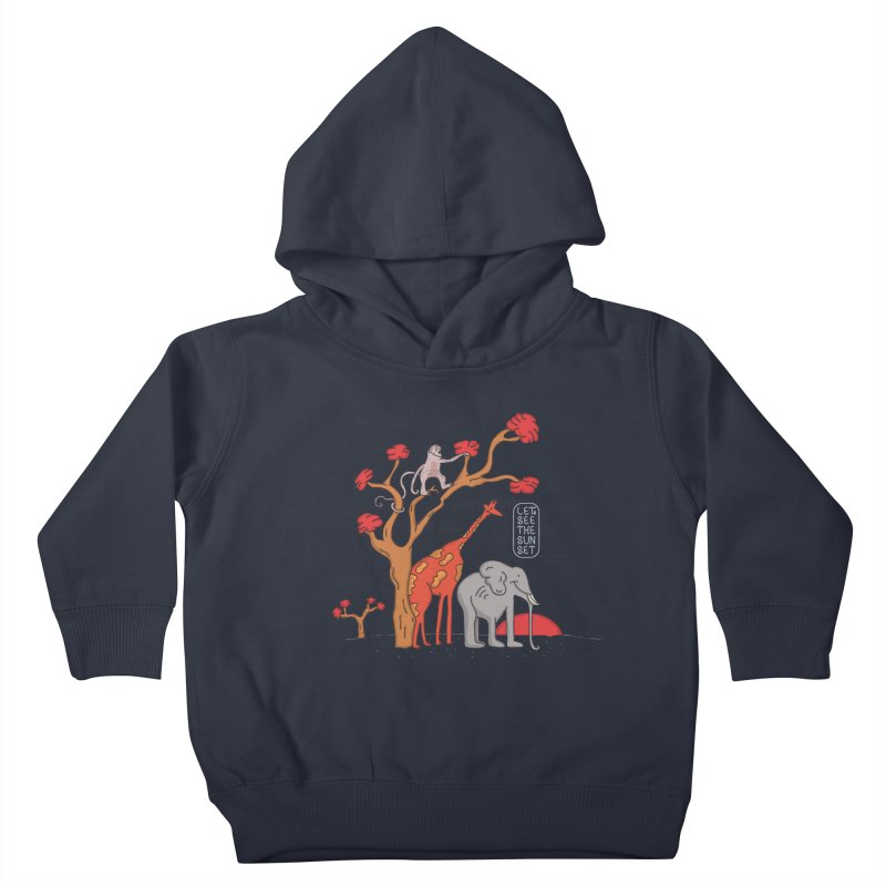 AWF - Let's See The Sunset-Day Kids Toddler Pullover Hoody by darruda's Artist Shop