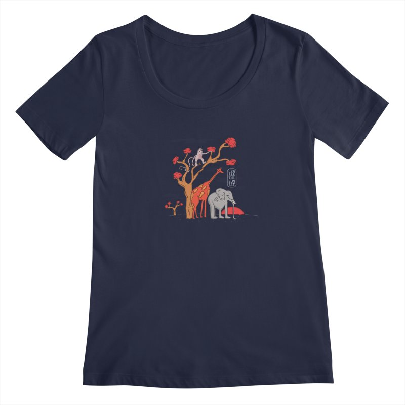 AWF - Let's See The Sunset-Day Women's Scoopneck by darruda's Artist Shop