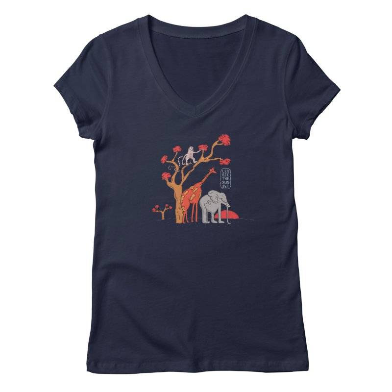AWF - Let's See The Sunset-Day Women's V-Neck by darruda's Artist Shop