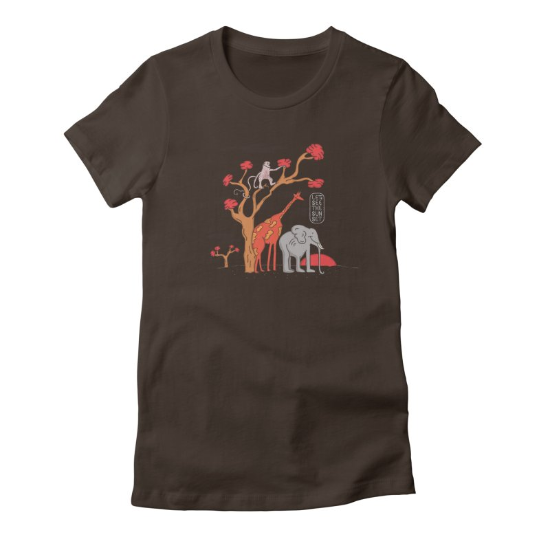 AWF - Let's See The Sunset-Day Women's Fitted T-Shirt by darruda's Artist Shop