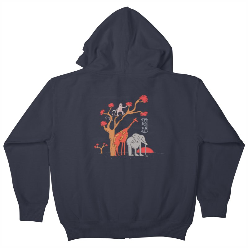 AWF - Let's See The Sunset-Day Kids Zip-Up Hoody by darruda's Artist Shop
