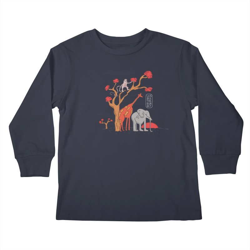 AWF - Let's See The Sunset-Day Kids Longsleeve T-Shirt by darruda's Artist Shop