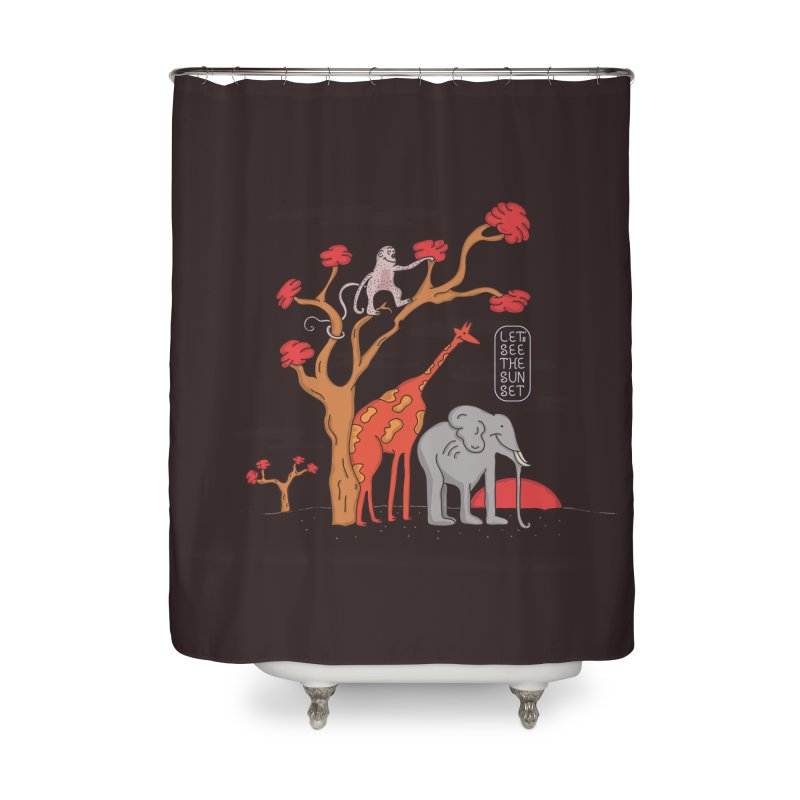 AWF - Let's See The Sunset-Day Home Shower Curtain by darruda's Artist Shop