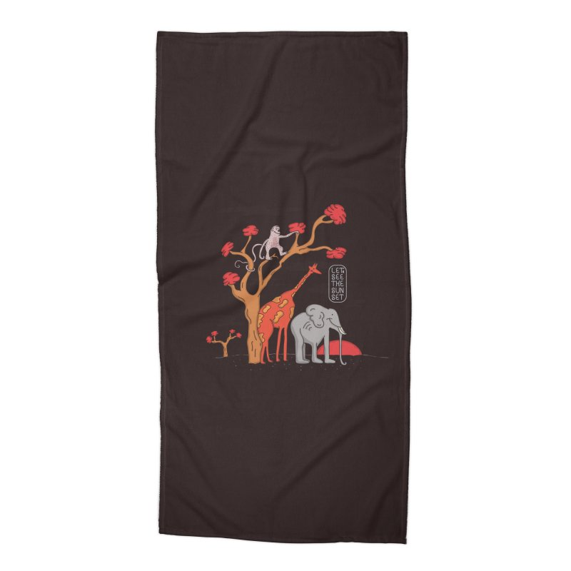 AWF - Let's See The Sunset-Day Accessories Beach Towel by darruda's Artist Shop