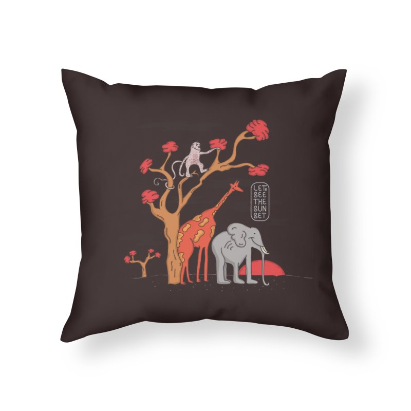 AWF - Let's See The Sunset-Day Home Throw Pillow by darruda's Artist Shop