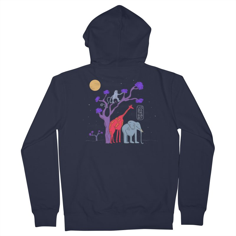 AWF - Let's See The Sunset-Night Men's Zip-Up Hoody by darruda's Artist Shop
