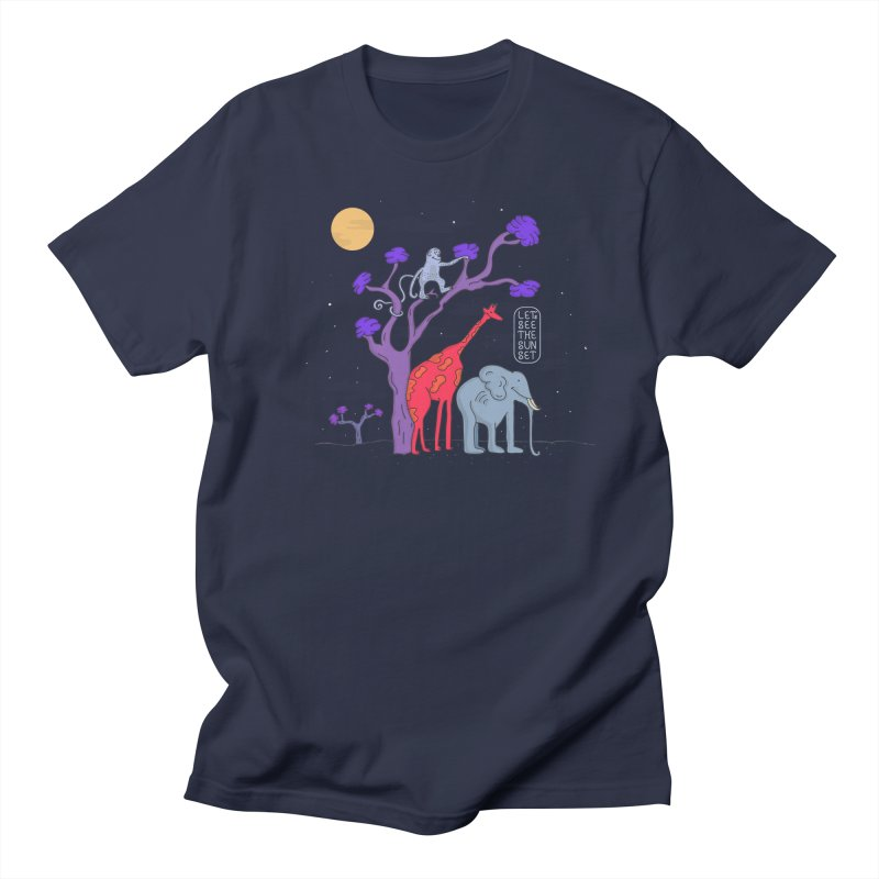 AWF - Let's See The Sunset-Night in Men's T-shirt Navy by darruda's Artist Shop