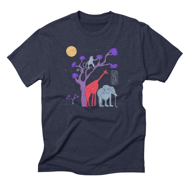 AWF - Let's See The Sunset-Night Men's Triblend T-shirt by darruda's Artist Shop