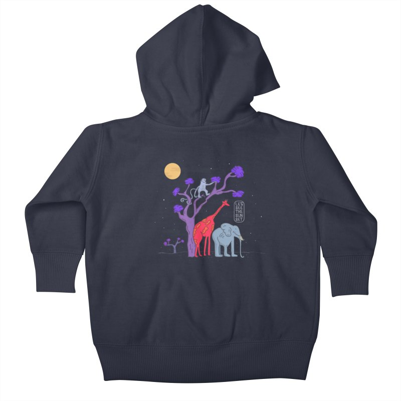 AWF - Let's See The Sunset-Night Kids Baby Zip-Up Hoody by darruda's Artist Shop