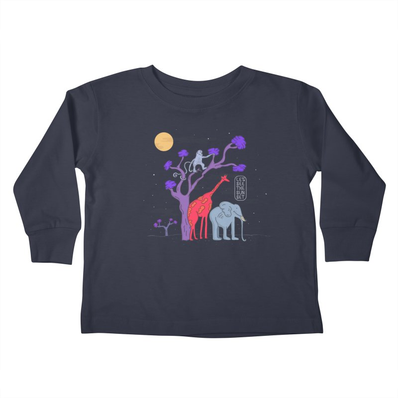 AWF - Let's See The Sunset-Night Kids Toddler Longsleeve T-Shirt by darruda's Artist Shop