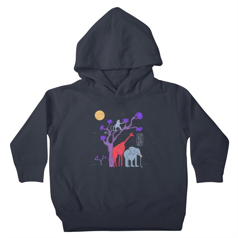 AWF - Let's See The Sunset-Night Kids Toddler Pullover Hoody by darruda's Artist Shop