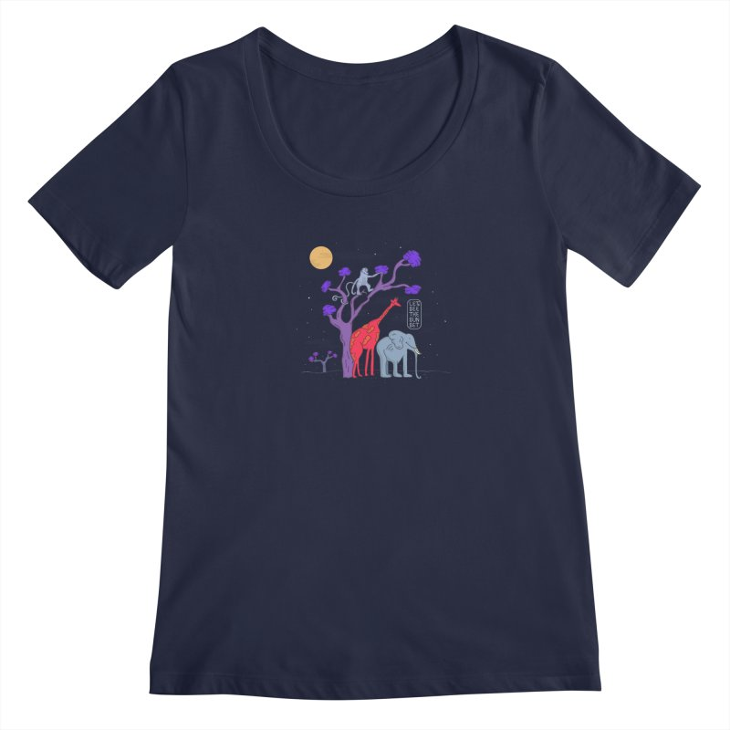 AWF - Let's See The Sunset-Night Women's Scoopneck by darruda's Artist Shop