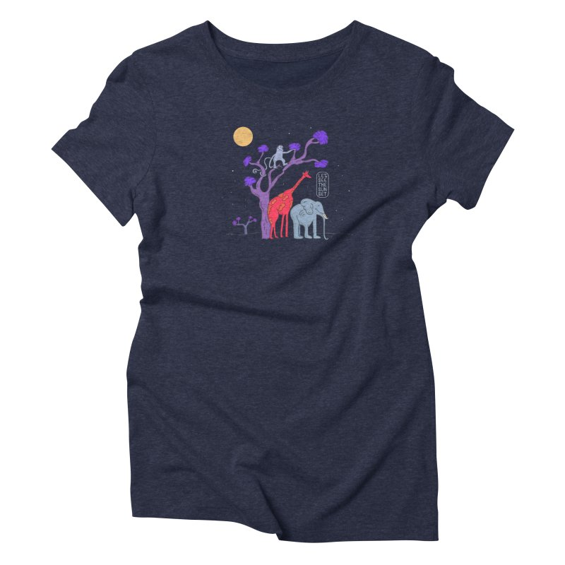 AWF - Let's See The Sunset-Night Women's Triblend T-shirt by darruda's Artist Shop