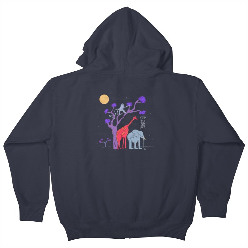 AWF - Let's See The Sunset-Night Kids Zip-Up Hoody by darruda's Artist Shop