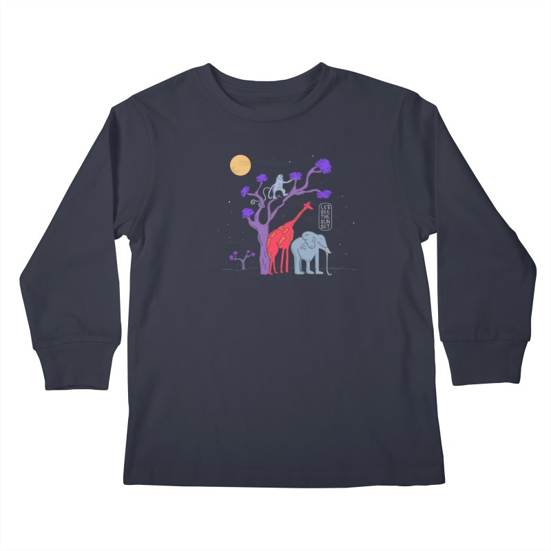 AWF - Let's See The Sunset-Night Kids Longsleeve T-Shirt by darruda's Artist Shop