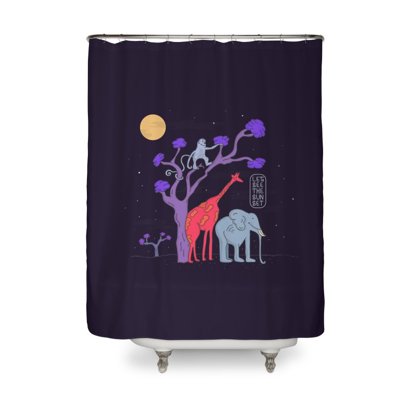 AWF - Let's See The Sunset-Night Home Shower Curtain by darruda's Artist Shop