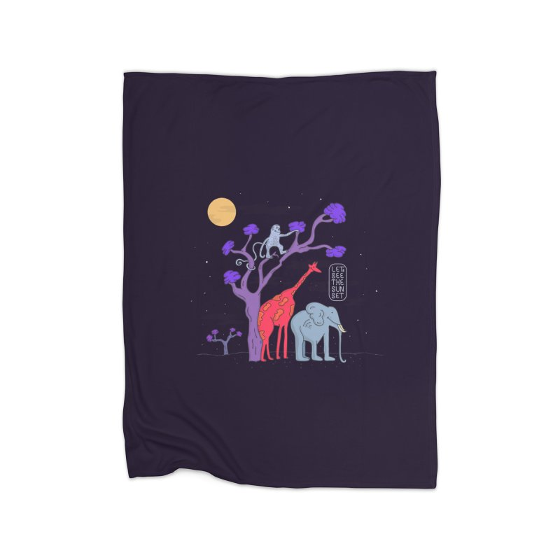 AWF - Let's See The Sunset-Night Home Blanket by darruda's Artist Shop