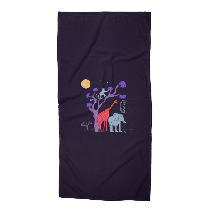 AWF - Let's See The Sunset-Night Accessories Beach Towel by darruda's Artist Shop