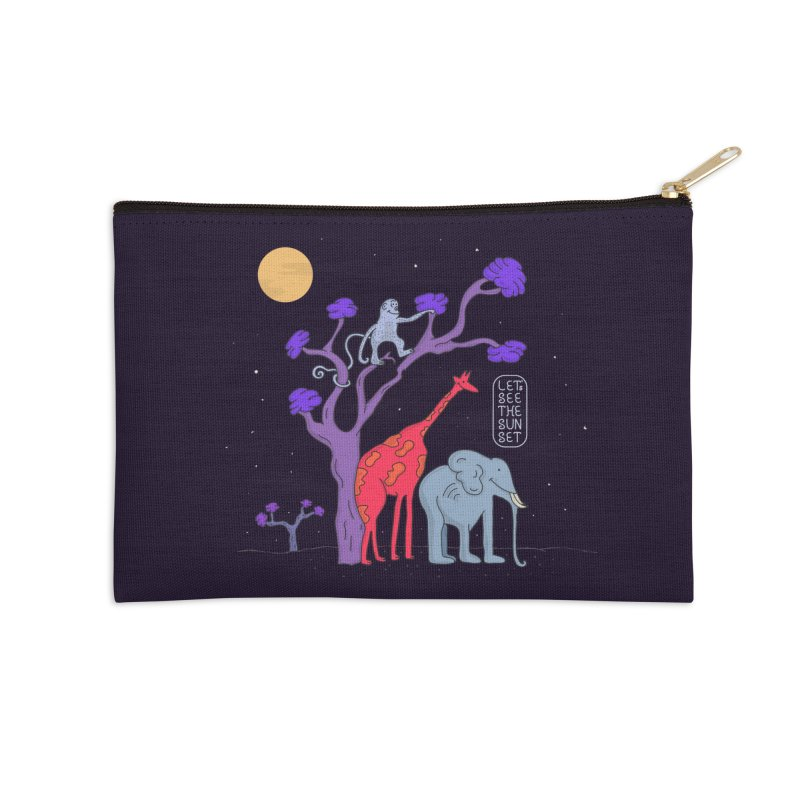 AWF - Let's See The Sunset-Night Accessories Zip Pouch by darruda's Artist Shop