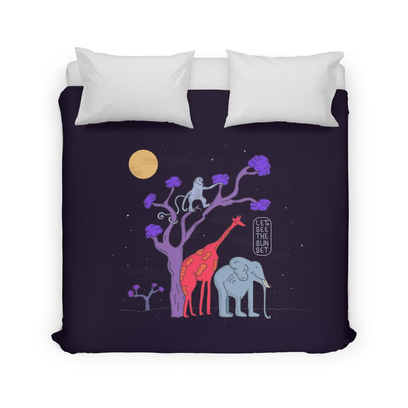 AWF - Let's See The Sunset-Night Home Duvet by darruda's Artist Shop