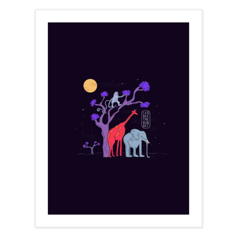 AWF - Let's See The Sunset-Night Home Fine Art Print by darruda's Artist Shop