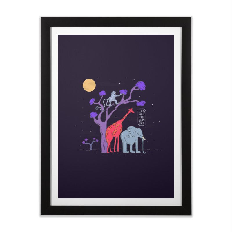 AWF - Let's See The Sunset-Night Home Framed Fine Art Print by darruda's Artist Shop