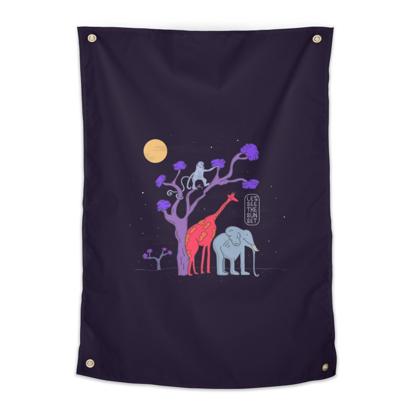 AWF - Let's See The Sunset-Night Home Tapestry by darruda's Artist Shop