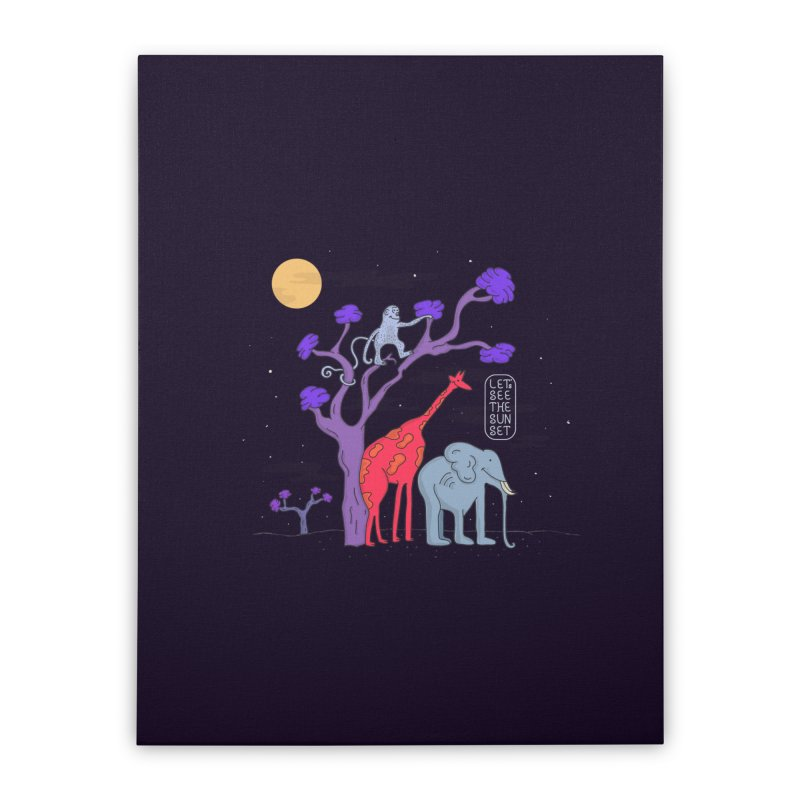 AWF - Let's See The Sunset-Night Home Stretched Canvas by darruda's Artist Shop
