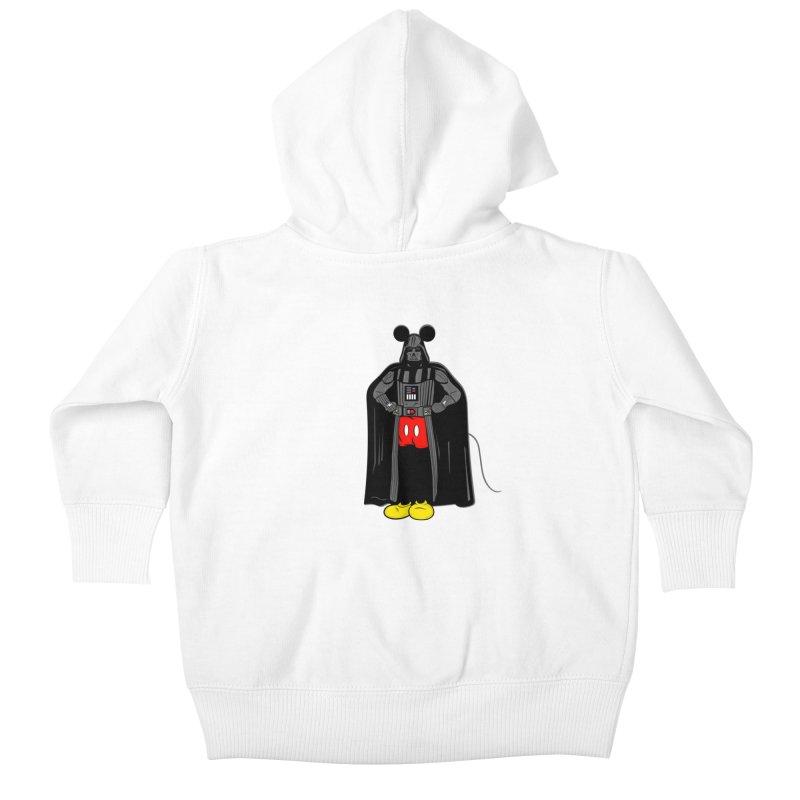 Darth Mouse Kids Baby Zip-Up Hoody by darruda's Artist Shop