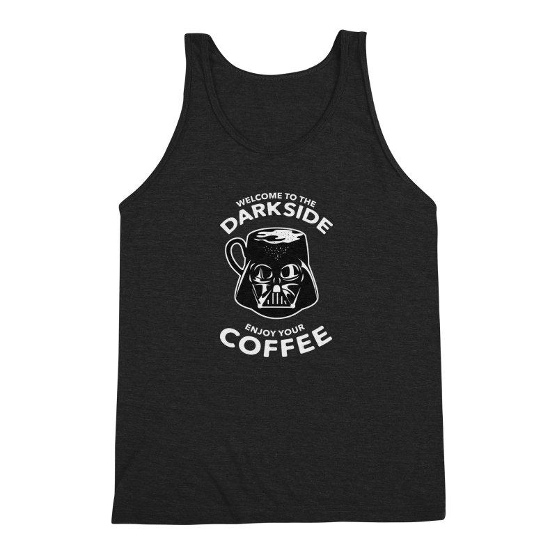 Coffee is on the Dark Side Men's Triblend Tank by darruda's Artist Shop